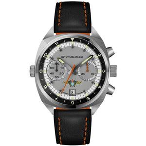 "STURMANSKIE Chrono ""Okeah"" Grey - Red Army Watches Malaysia"