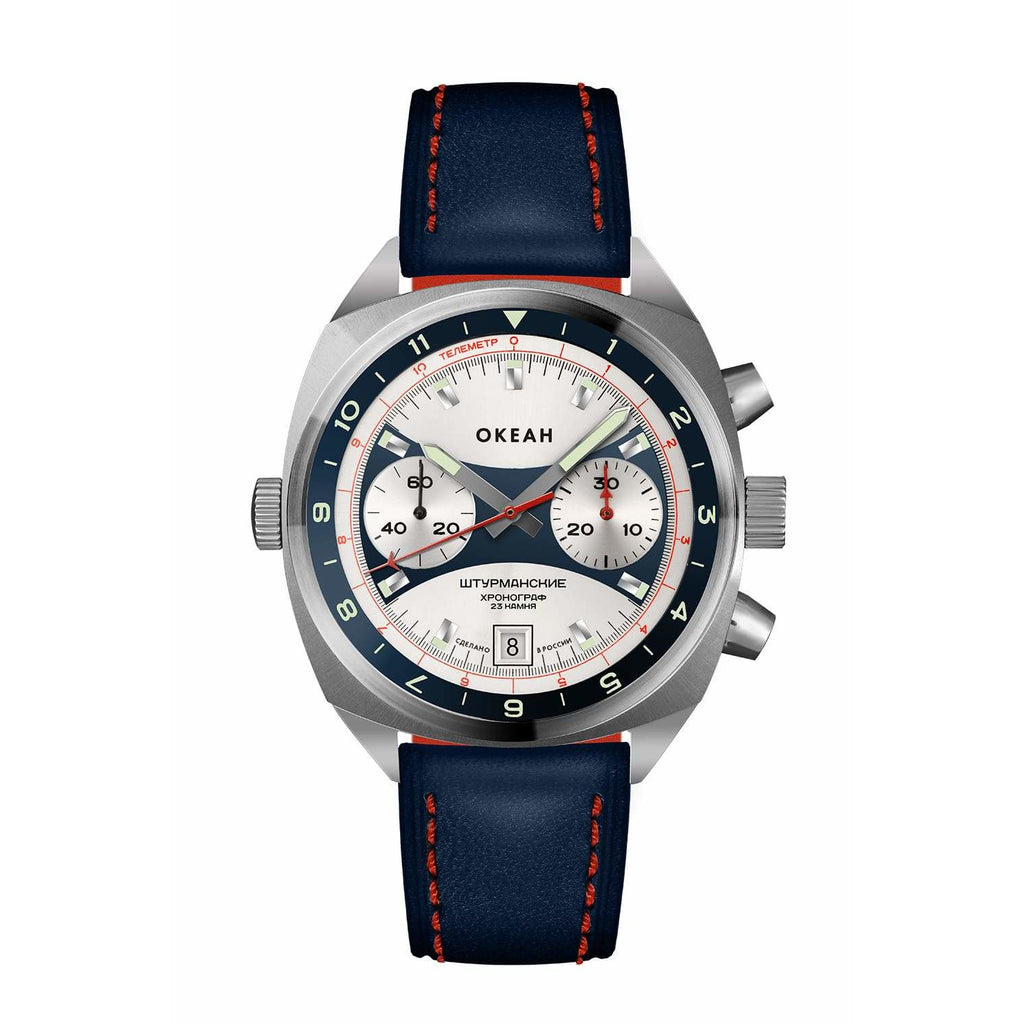 "STURMANSKIE Chrono ""Okeah"" Edition Blue - Red Army Watches Malaysia"