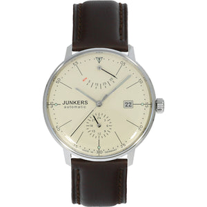 JUNKERS 6060-5 Bauhaus Beige Auto PR - Red Army Watches Malaysia