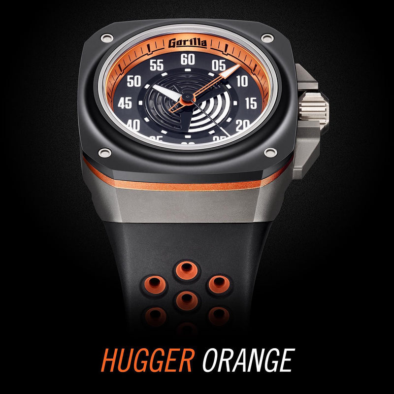 GORILLA Fastback Titanium Hugger Orange (Bi-color) - Red Army Watches Malaysia