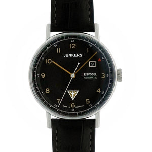 JUNKERS 6754-5 Eisvogel Black - Red Army Watches Malaysia