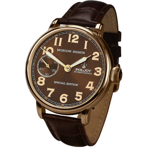 POLJOT INTERNATIONAL Moscow Nights Handwinding 9011.1940264 RG Brown - Red Army Watches Malaysia