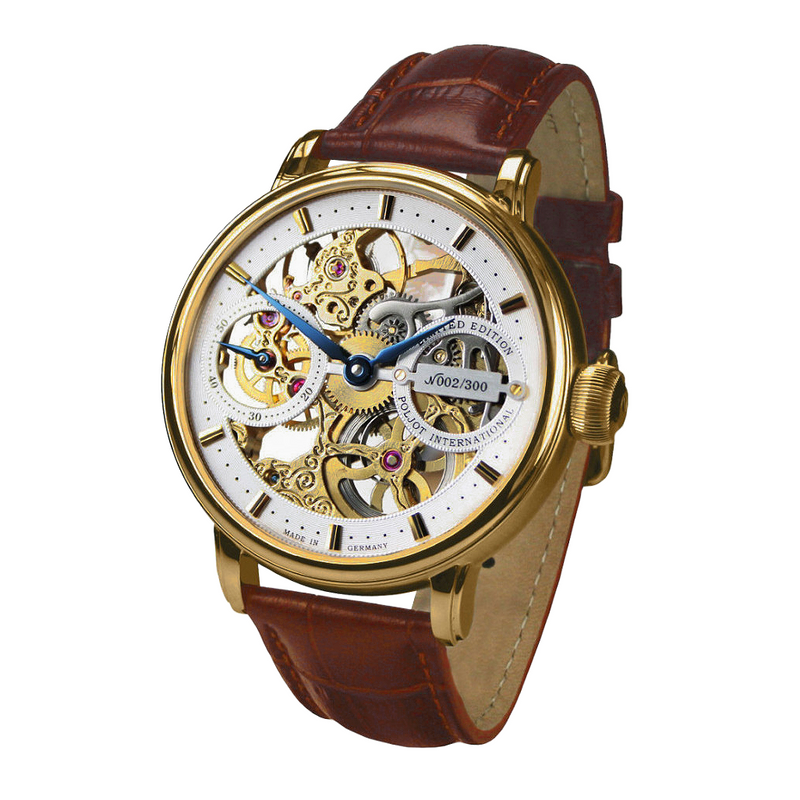 POLJOT INTERNATIONAL Nicolai II Skeleton Yellow Gold - Red Army Watches Malaysia