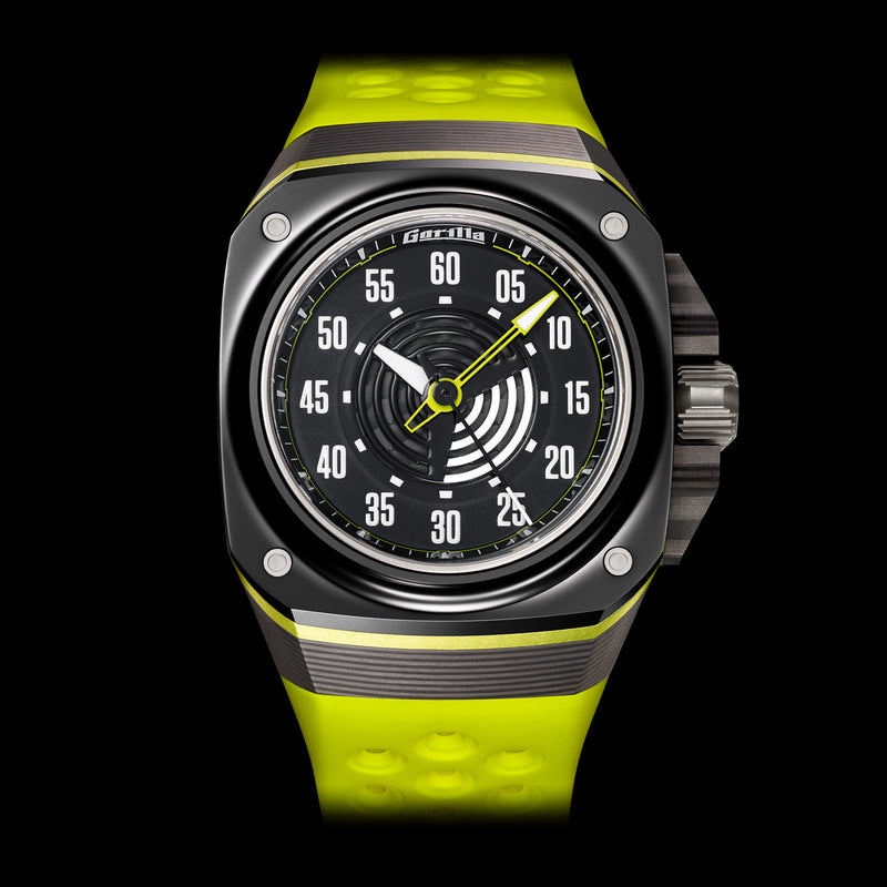 GORILLA Fastback Carbon Acid Green - Red Army Watches Malaysia