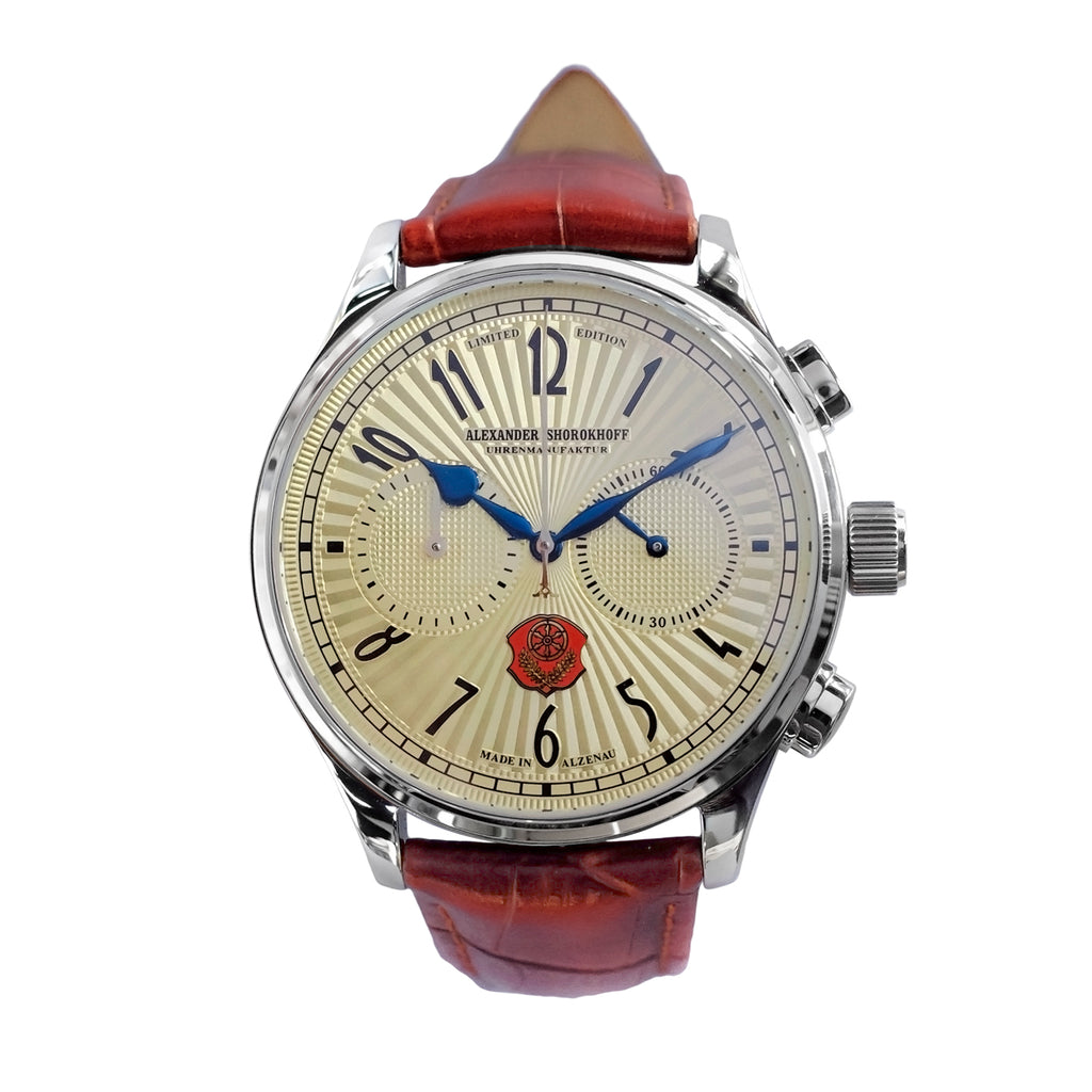 ALEXANDER SHOROKHOFF Alzenau Beige 43.5mm Limited Edition - Red Army Watches Malaysia