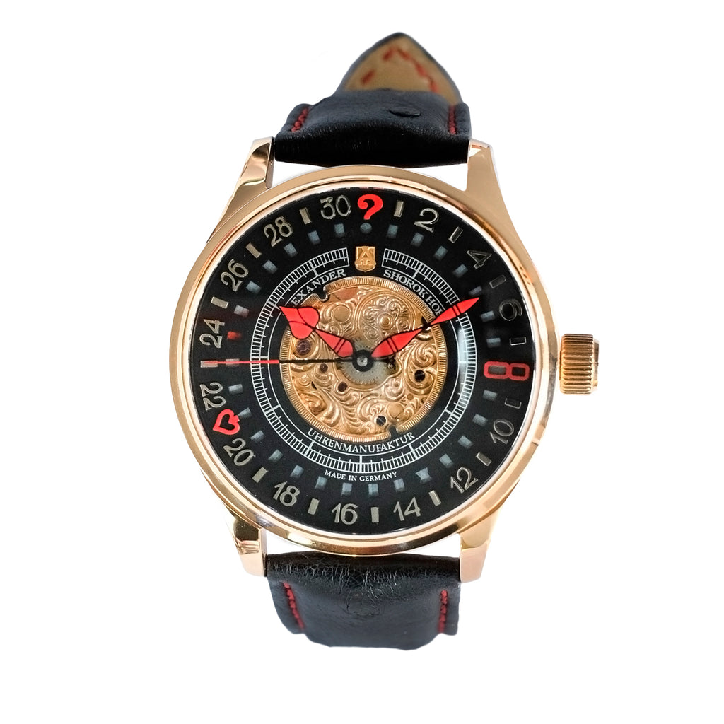 ALEXANDER SHOROKHOFF Lucky 8-2 Rose Gold - Red Army Watches Malaysia