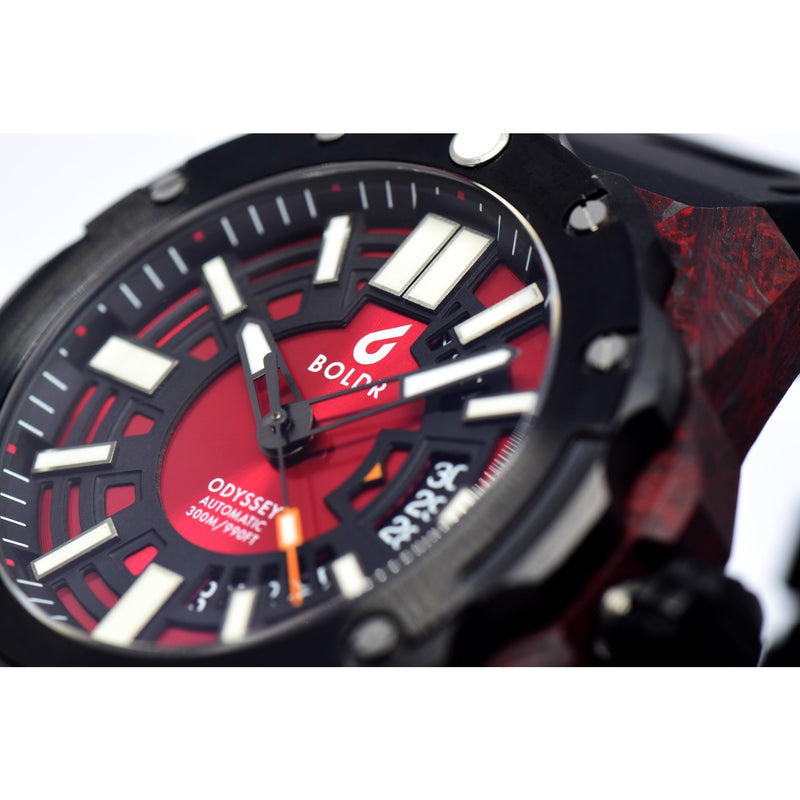 BOLDR Odyssey Carbon Red - Red Army Watches Malaysia