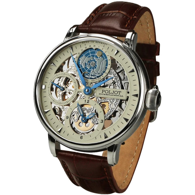 POLJOT INTERNATIONAL Globetrotter 9730 Beige - Red Army Watches Malaysia