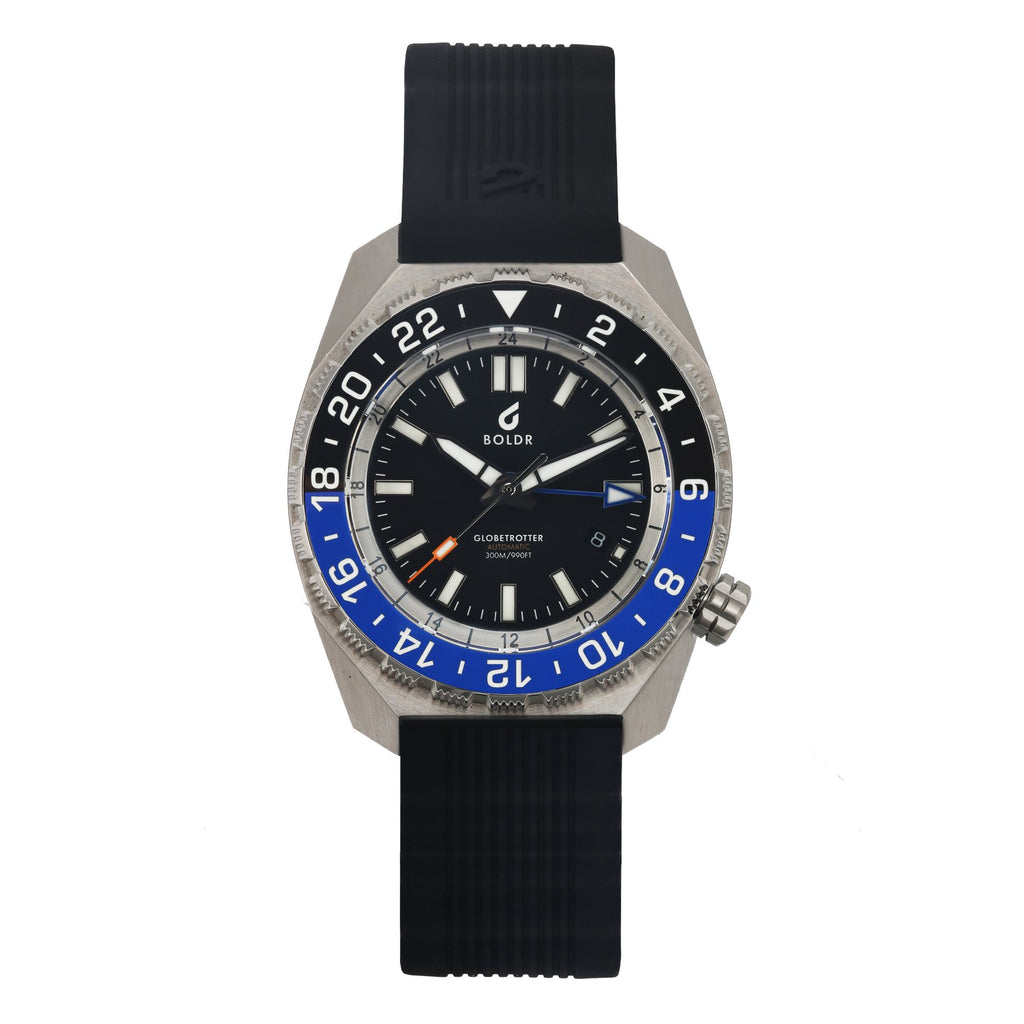 BOLDR Globetrotter GMT Blue Black - Red Army Watches Malaysia