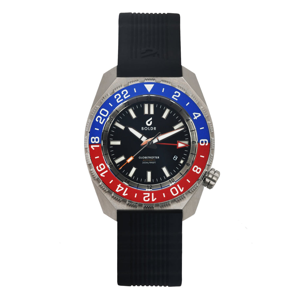 BOLDR Globetrotter GMT Blue Red - Red Army Watches Malaysia