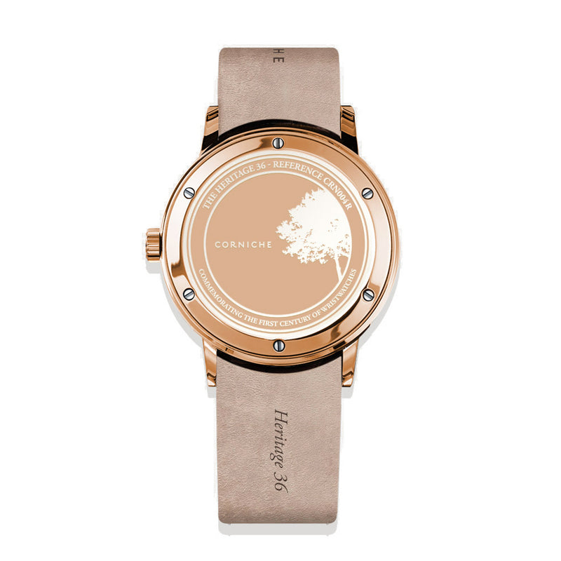 CORNICHE Heritage 36 Rose Gold / Taupe - Red Army Watches Malaysia