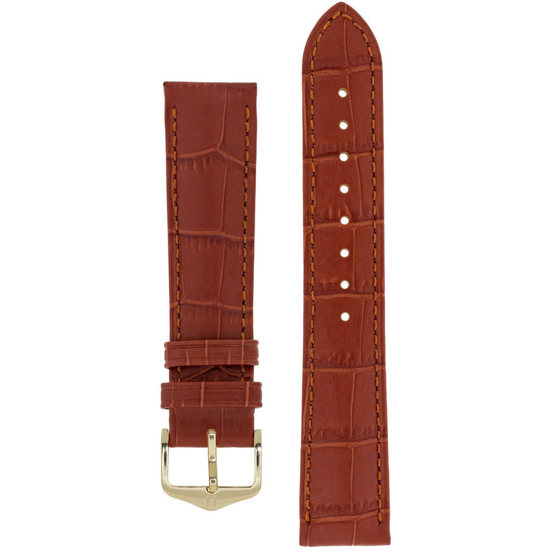 HIRSCH Duke Alligator Embossed Calf Leather Watch Strap - Red Army Watches Malaysia