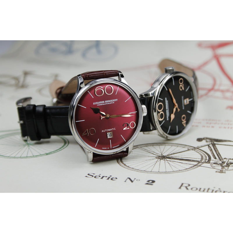 ALEXANDER SHOROKHOFF 63 Bordeaux - Red Army Watches Malaysia