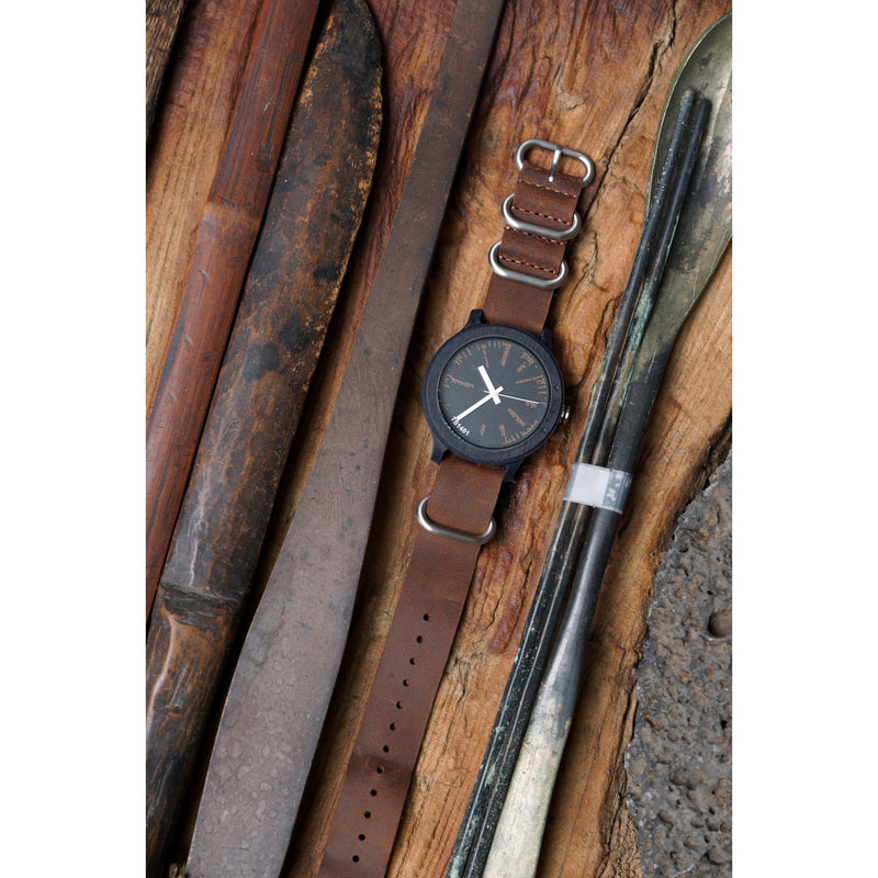 TACS Nature L Rustic Woodgrain Black - Red Army Watches Malaysia
