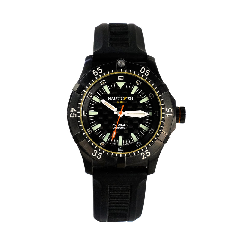 NAUTICFISH H3Gen Tritium Black PVD - Red Army Watches Malaysia