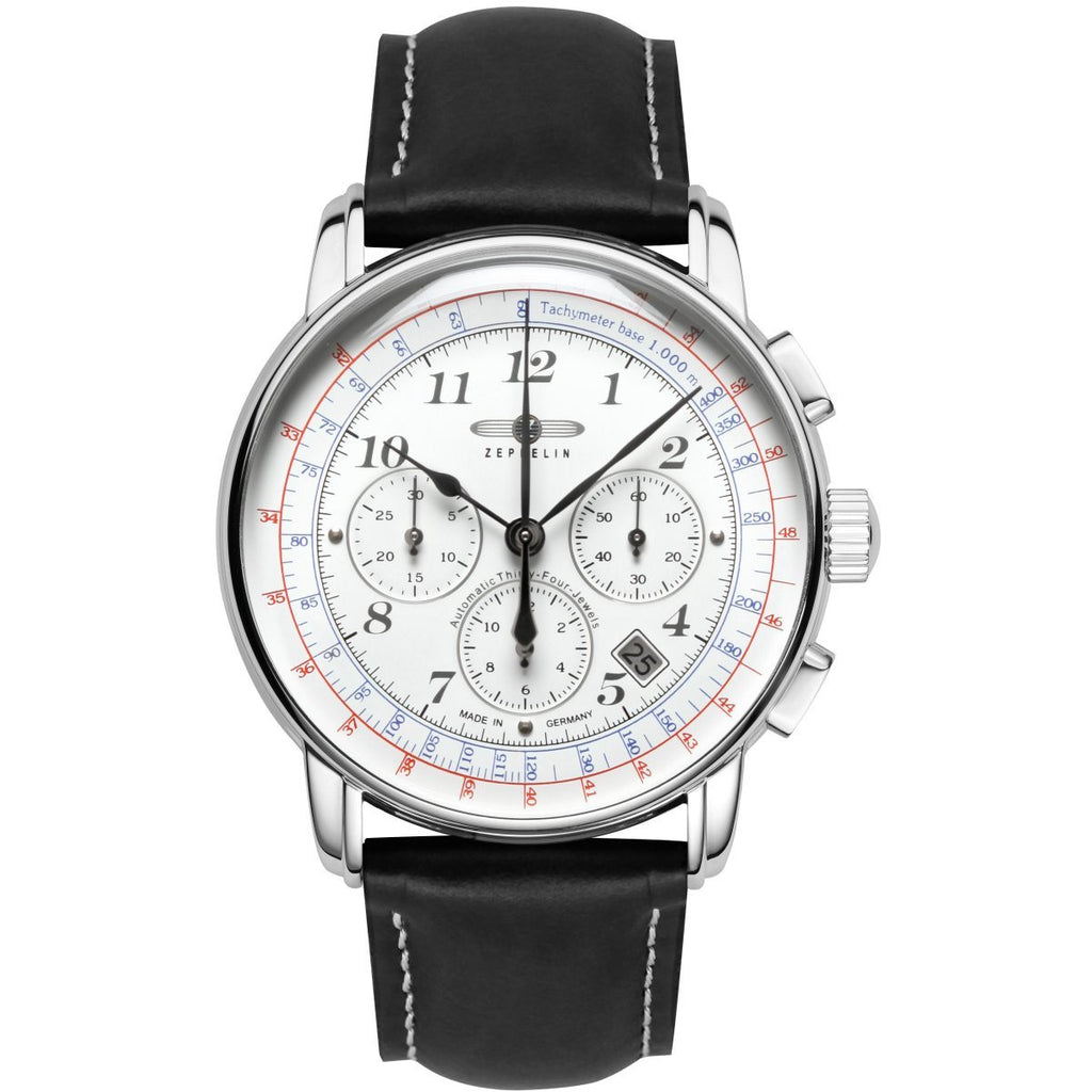 ZEPPELIN 7624-1 LZ126 Los Angeles White - Red Army Watches Malaysia