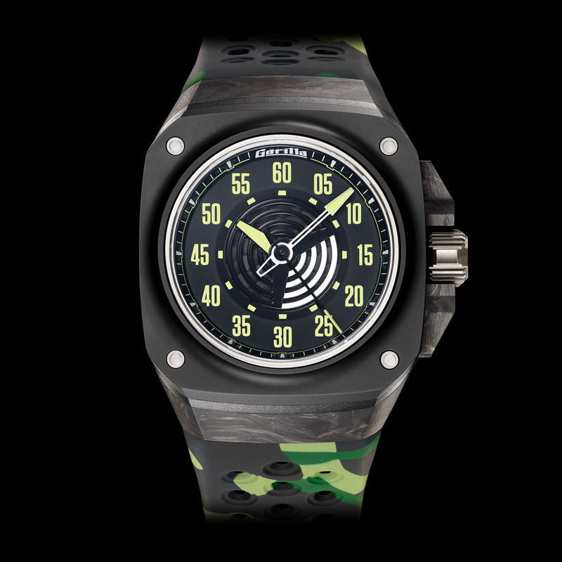GORILLA Fastback Carbon Phantom Black - Red Army Watches Malaysia