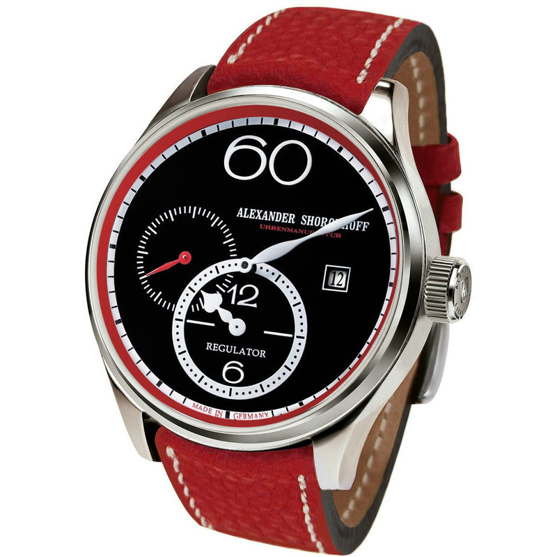 ALEXANDER SHOROKHOFF Regulator R01 Red - Red Army Watches Malaysia