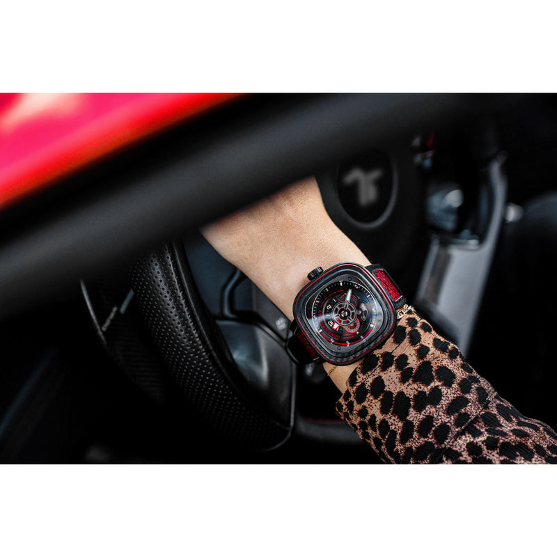 SEVENFRIDAY P3C/04 Red Carbon - Red Army Watches Malaysia