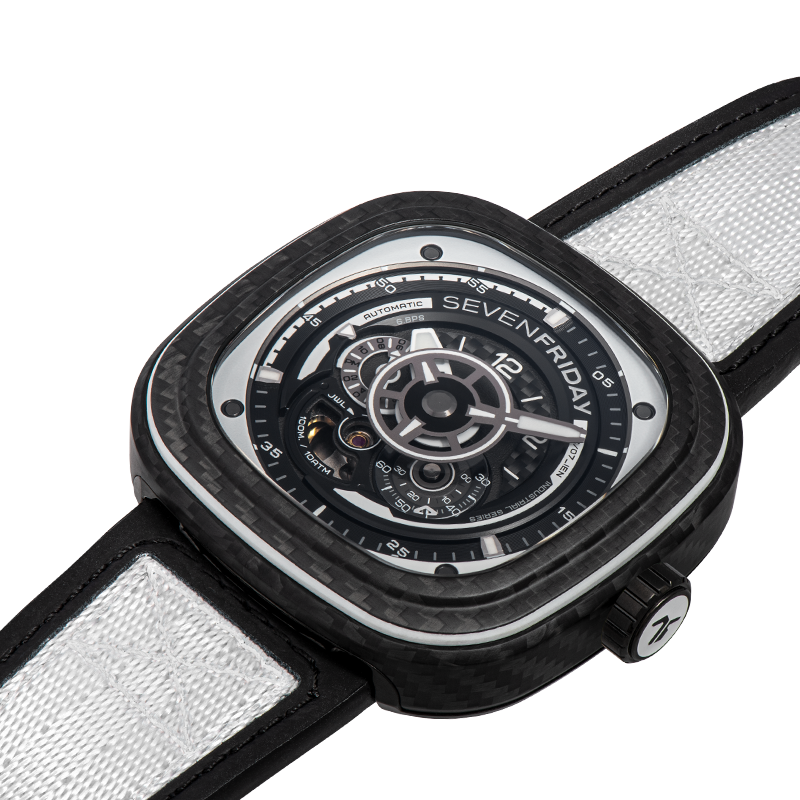 SEVENFRIDAY P3C/07 White Carbon - Red Army Watches Malaysia