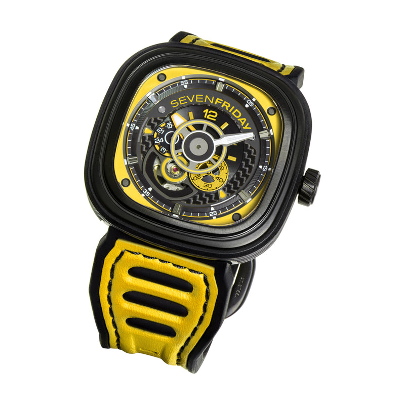 SEVENFRIDAY P3B/03 Racing Team Yellow - Red Army Watches Malaysia