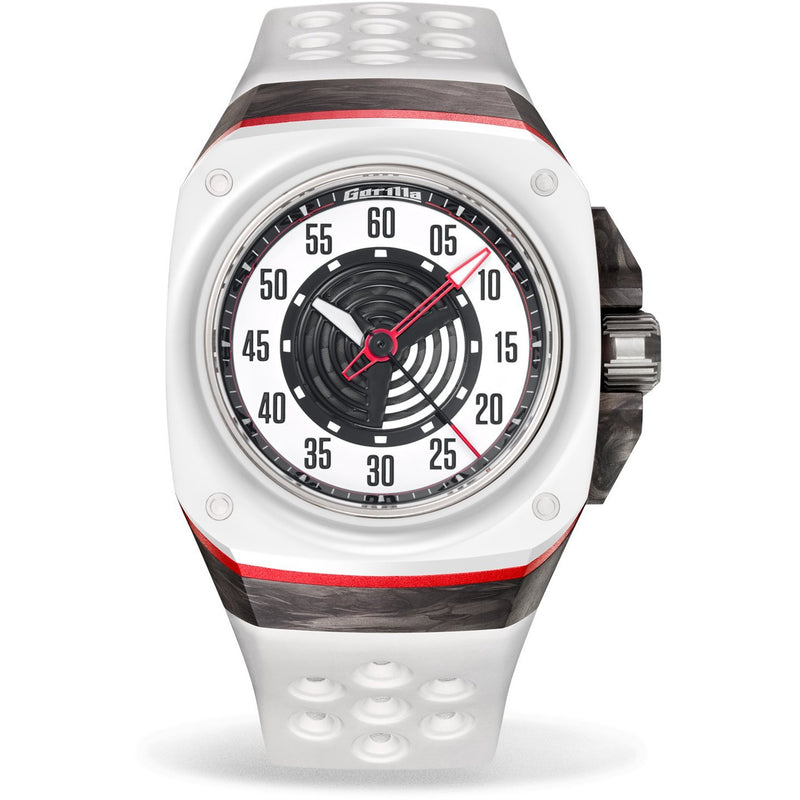 GORILLA Fastback Carbon RS White - Red Army Watches Malaysia