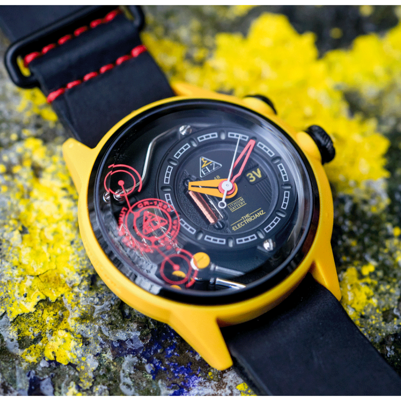 The ELECTRICIANZ Black & Red Nato Strap - Red Army Watches Malaysia