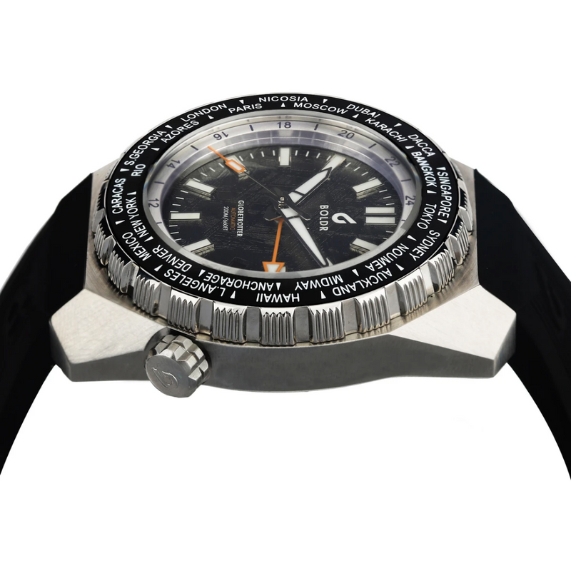 BOLDR Globetrotter GMT MeteoBlack - Red Army Watches Malaysia