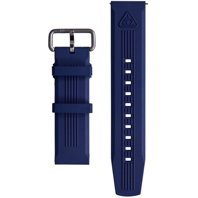 The ELECTRICIANZ Blue Embossed Rubber Strap - Red Army Watches Malaysia