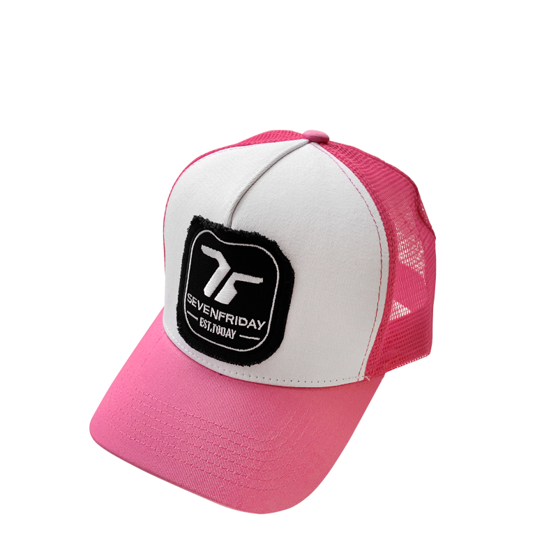 SEVENFRIDAY Pink Trucker Cap - Red Army Watches Malaysia