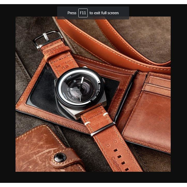 TACS Nato-Lens (Classic Leather Brown) - Red Army Watches Malaysia