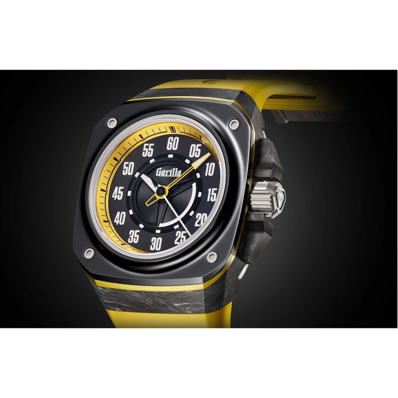 GORILLA Fastback Carbon Stinger Yellow - Red Army Watches Malaysia