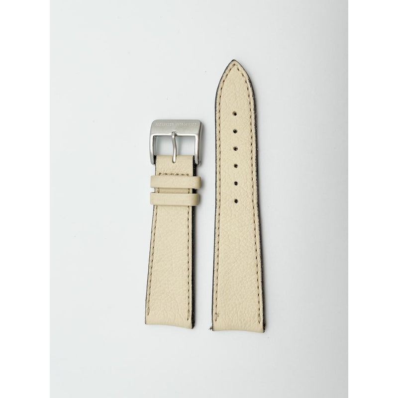 ALEXANDER SHOROKHOFF Leather Strap From Shrunken Calf – Beige - Red Army Watches Malaysia