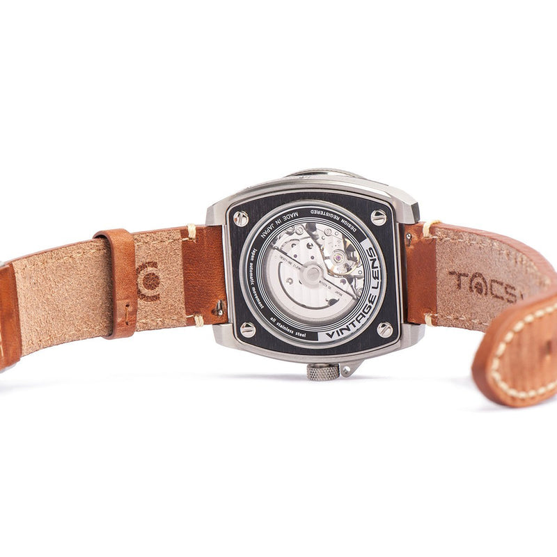 TACS Automatic Vintage Lens II - Vintage Brown A - Red Army Watches Malaysia