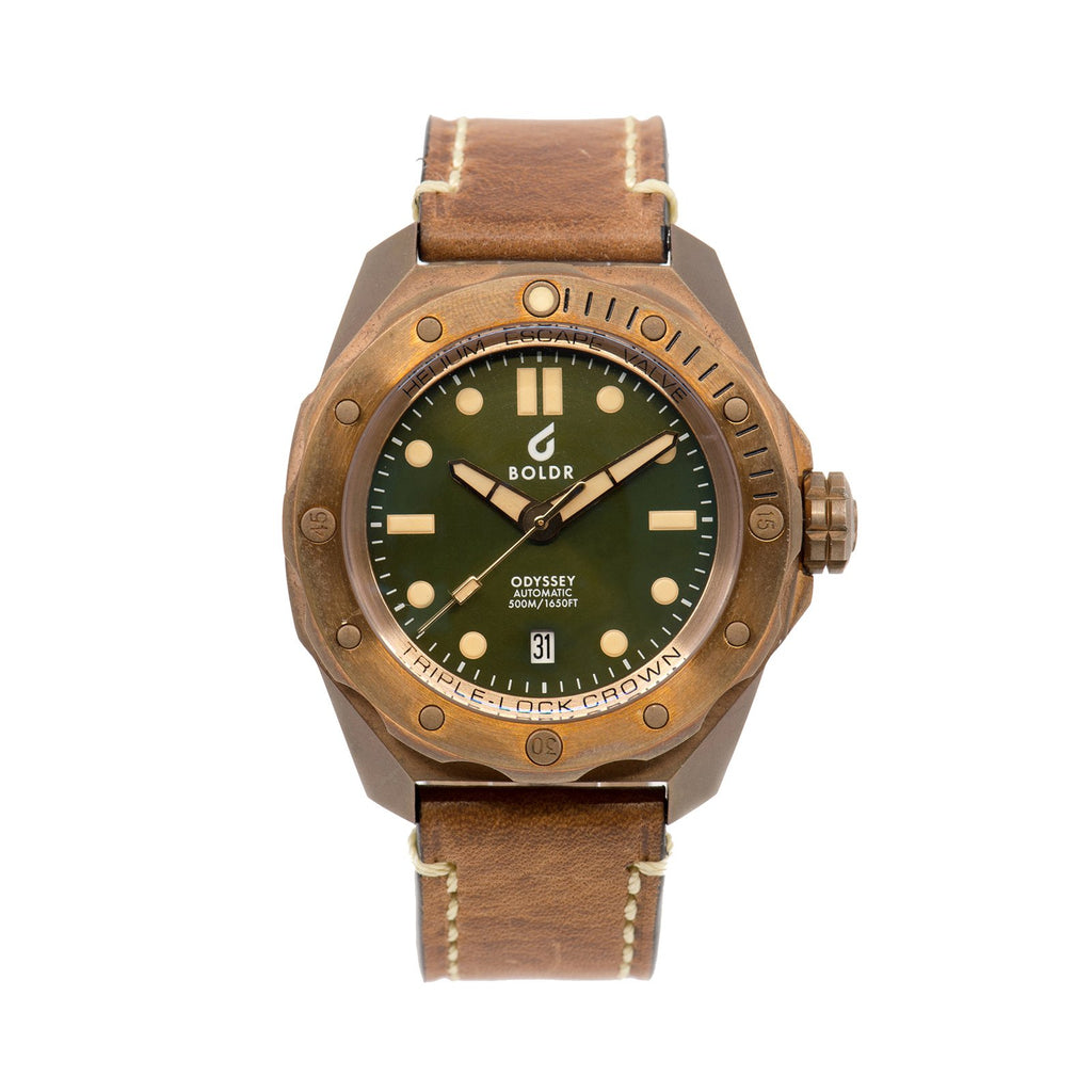 BOLDR Odyssey Bronze Green - Red Army Watches Malaysia