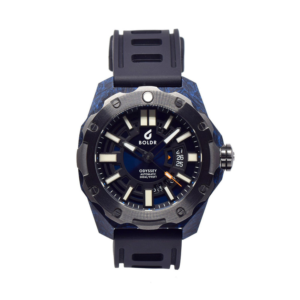 BOLDR Odyssey Carbon Blue - Red Army Watches Malaysia