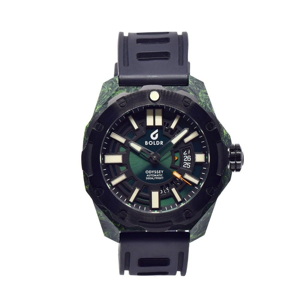 BOLDR Odyssey Carbon Green - Red Army Watches Malaysia