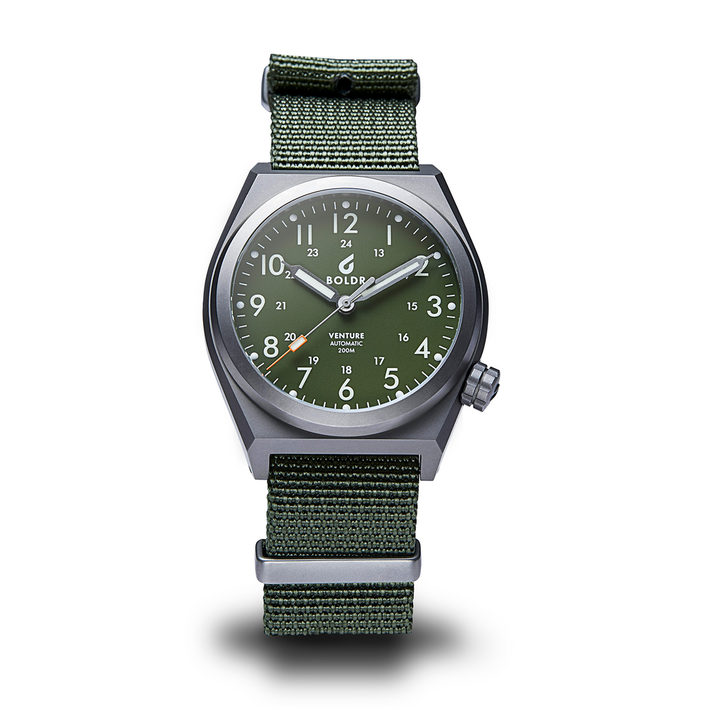 BOLDR Venture Jungle Green - Red Army Watches Malaysia