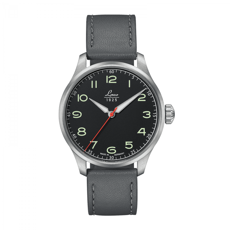 LACO Black Automatic 42 - Red Army Watches Malaysia