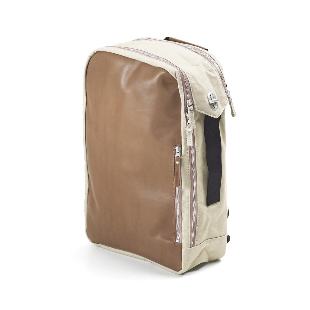 QWSTION Backpack Brown Leather Canvas - Red Army Watches Malaysia