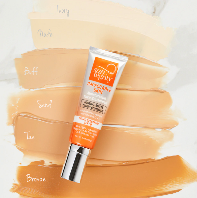 Suntegrity Impeccable Skin CC Cream with SPF natural sunscreen foundation