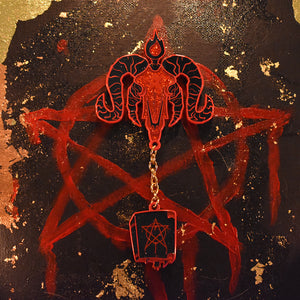 Limited Edition Baphomet Hard Enamel Pin with chain