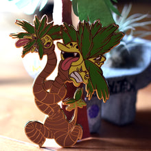 Load image into Gallery viewer, Mutant warped Alolan Palm Tree Monster Enamel Pin Limited Edition