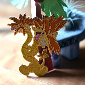 Mutant warped Alolan Palm Tree Monster Enamel Pin Limited Edition