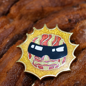 Bacon in the sun Hard Enamel Pin