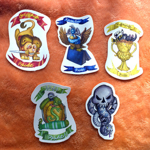 Magical world houses Vinyl Sticker