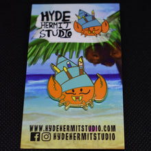 Load image into Gallery viewer, Hyde the Hermit Crab Enamel Pin