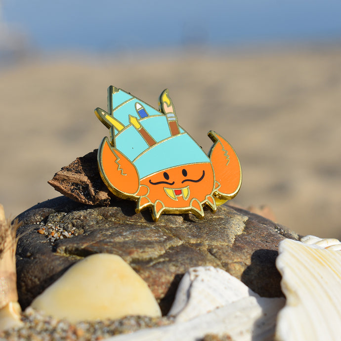 Hyde the Hermit Crab Enamel Pin