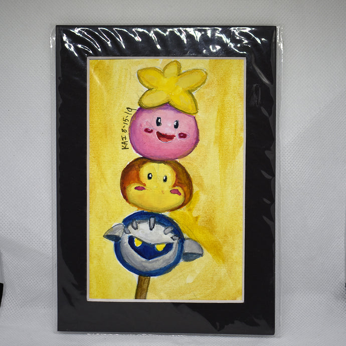 Kirby and Friends Dango Traditional Art