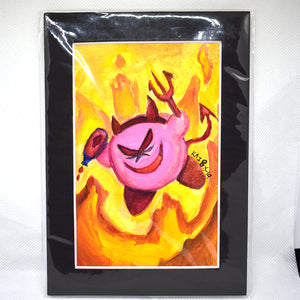 Devil Kirby Traditional Art